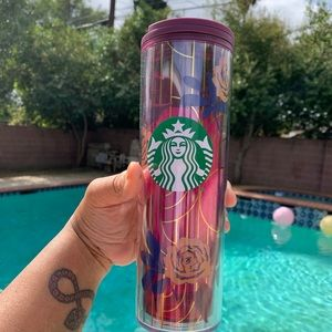 Starbucks 2020 Fall Purple Rose Cold Cup